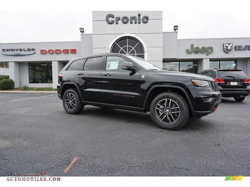 2018 jeep grand cherokee trailhawk 4x4 in diamond black for Steve white motors inc