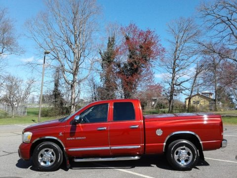 Inferno Red Crystal Pearl 2006 Dodge Ram 2500 Laramie Quad Cab