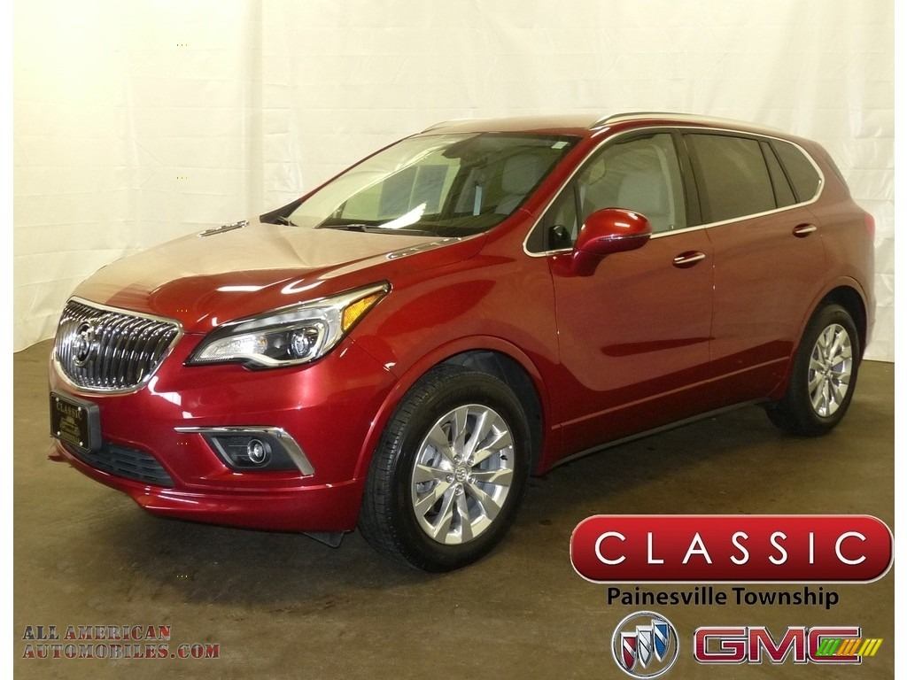 2017 Envision Essence - Chili Red Metallic / Light Neutral photo #1
