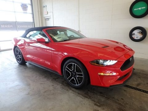 Race Red 2018 Ford Mustang EcoBoost Premium Convertible