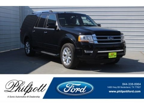 Shadow Black 2017 Ford Expedition EL Limited