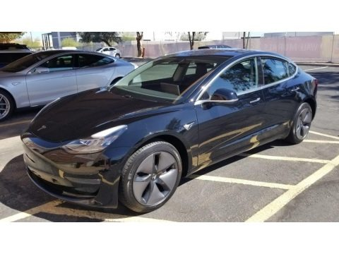 Black 2018 Tesla Model 3 Long Range