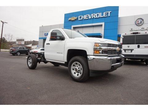 Summit White 2018 Chevrolet Silverado 2500HD Work Truck Regular Cab 4x4 Chassis