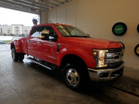 Race Red 2018 Ford F350 Super Duty Lariat Crew Cab 4x4