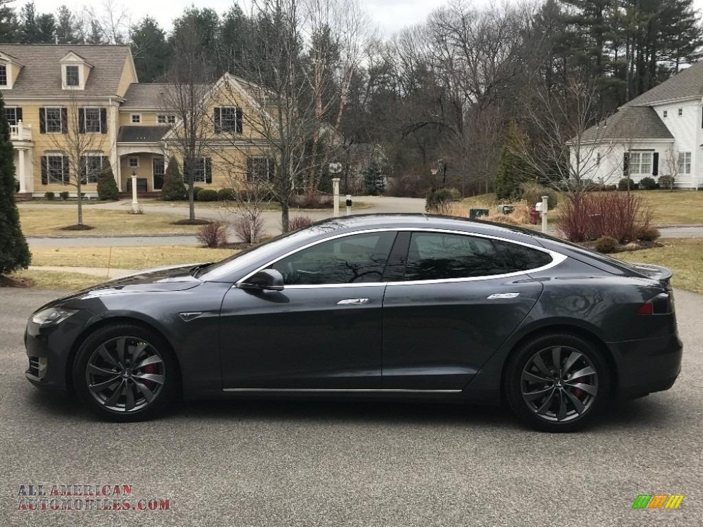 2016 Model S P90D - Midnight Silver Metallic / Gray photo #1