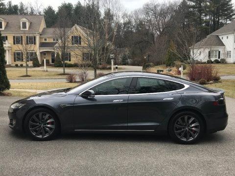 Midnight Silver Metallic 2016 Tesla Model S P90D
