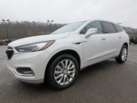 White Frost Tricoat 2018 Buick Enclave Premium AWD