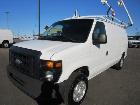 Oxford White 2014 Ford E-Series Van E150 Cargo Van