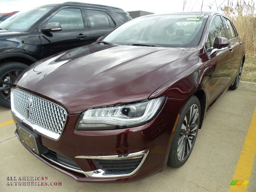 2018 MKZ Reserve - Burgundy Velvet Metallic / Cappuccino photo #1