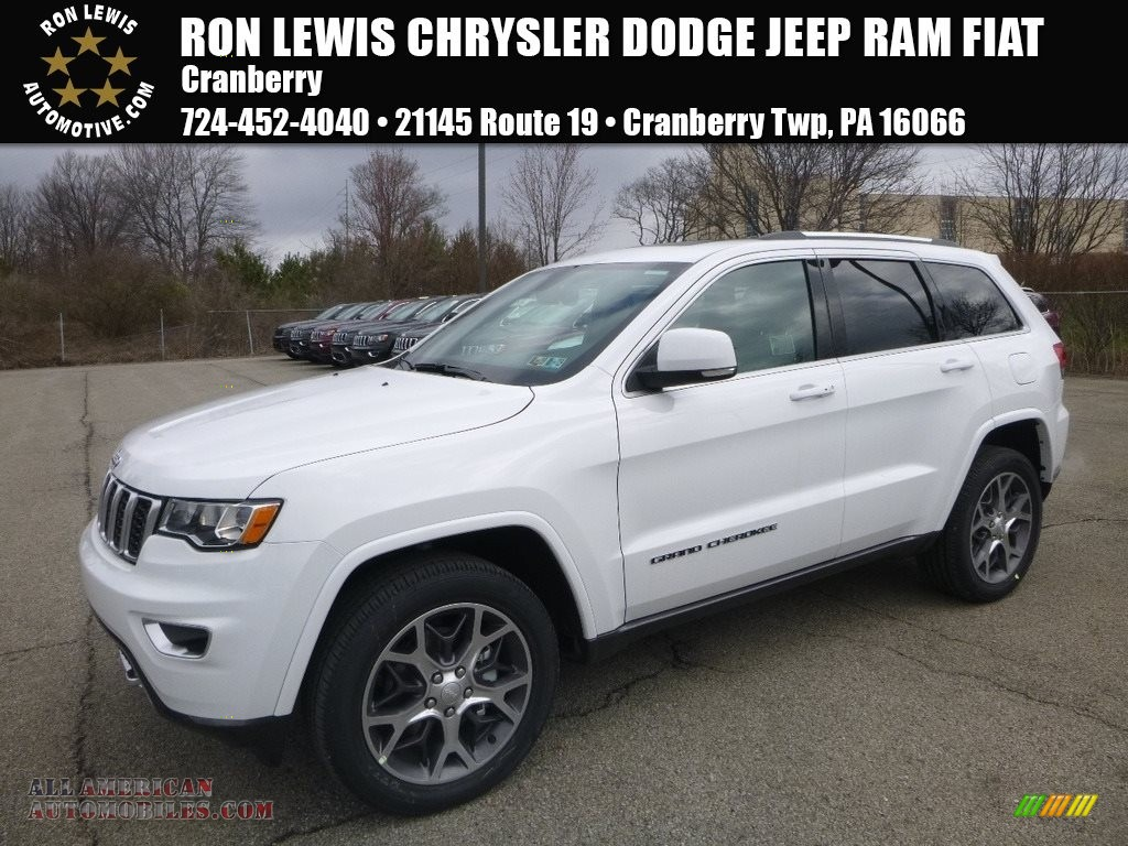 2018 Grand Cherokee Limited 4x4 - Bright White / Black/Light Gray photo #1