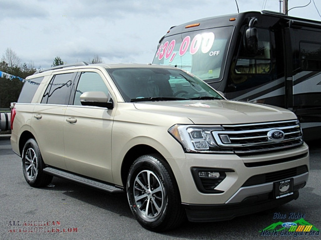 2018 Expedition XLT - White Gold / Medium Stone photo #7