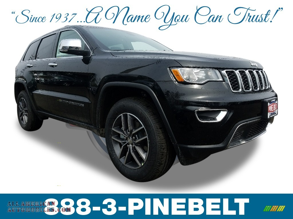 Diamond Black Crystal Pearl / Black Jeep Grand Cherokee Limited 4x4