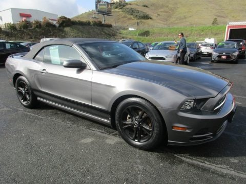 Sterling Gray 2014 Ford Mustang V6 Convertible