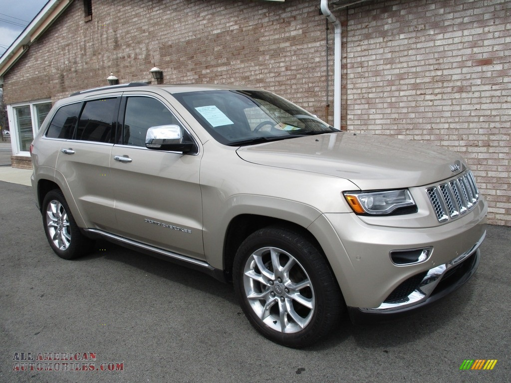 2014 Grand Cherokee Summit 4x4 - Cashmere Pearl / Summit Grand Canyon Jeep Brown Natura Leather photo #1
