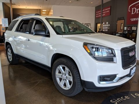 Summit White 2013 GMC Acadia SLE