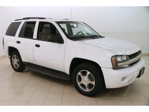 Summit White 2008 Chevrolet TrailBlazer LT 4x4