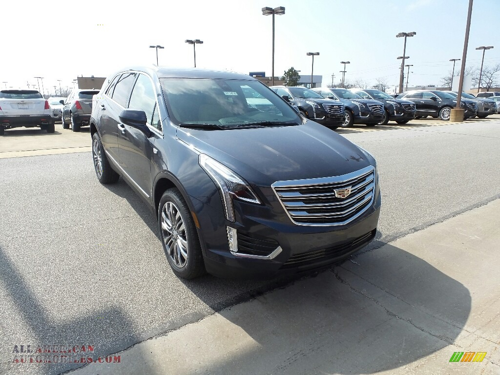 Harbor Blue Metallic / Sahara Beige Cadillac XT5 Premium Luxury AWD