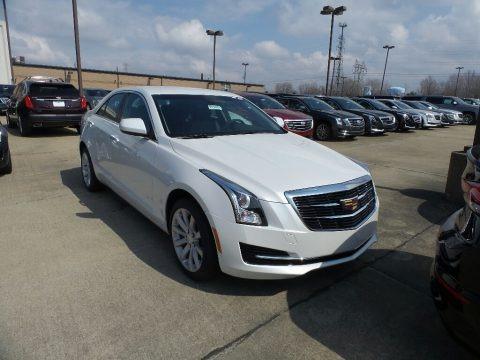 Crystal White Tricoat 2018 Cadillac ATS AWD