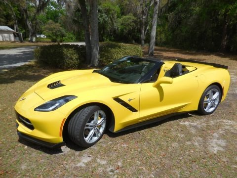 Corvette Racing Yellow Tintcoat 2016 Chevrolet Corvette Stingray Convertible