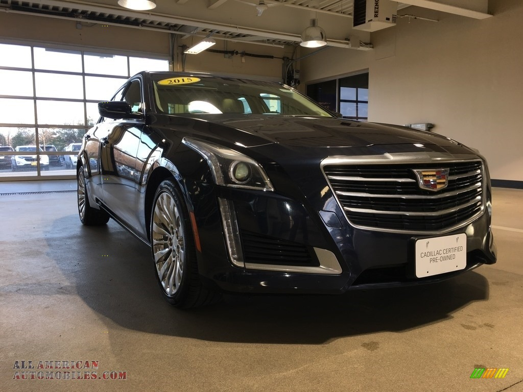 Dark Adriatic Blue Metallic / Light Cashmere/Medium Cashmere Cadillac CTS 2.0T Luxury AWD Sedan