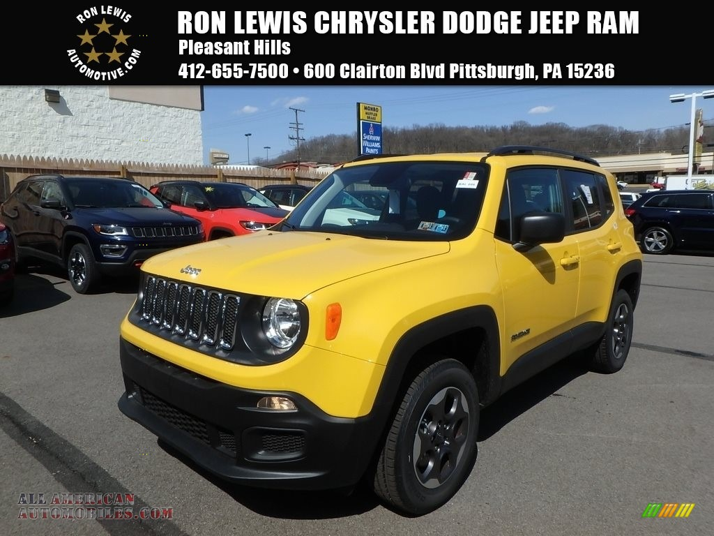 2018 Renegade Sport 4x4 - Solar Yellow / Black photo #1