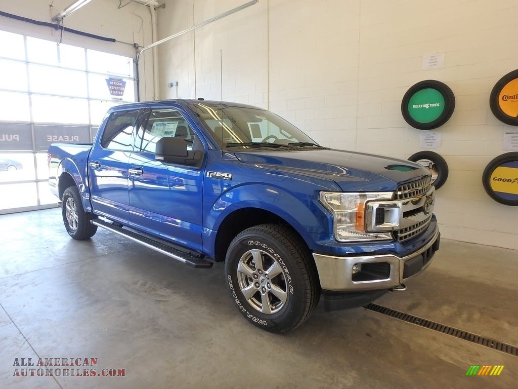 2018 F150 XLT SuperCrew 4x4 - Lightning Blue / Earth Gray photo #1
