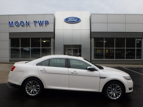 White Platinum 2017 Ford Taurus Limited