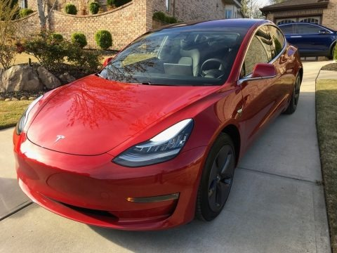 Red Multi-Coat 2018 Tesla Model 3 Long Range