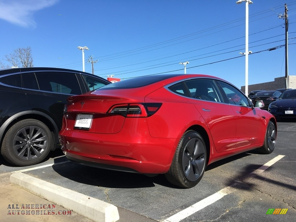 2018 Model 3 Long Range - Red Multi-Coat / Black photo #24