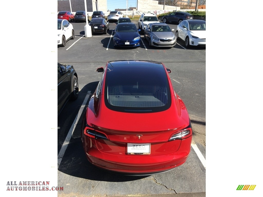2018 Model 3 Long Range - Red Multi-Coat / Black photo #27