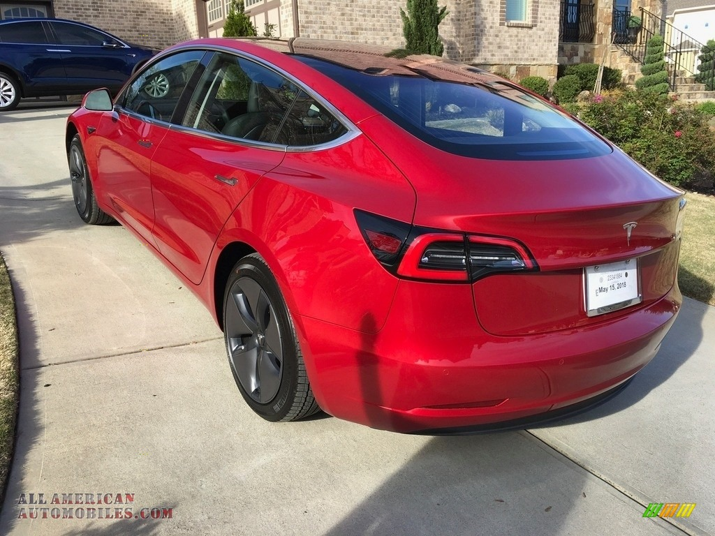 2018 Model 3 Long Range - Red Multi-Coat / Black photo #29