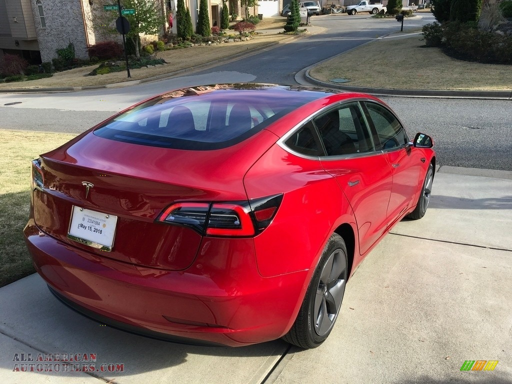 2018 Model 3 Long Range - Red Multi-Coat / Black photo #34