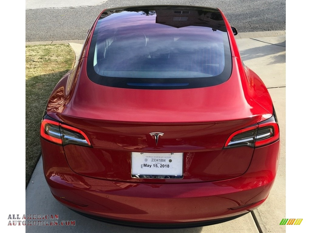 2018 Model 3 Long Range - Red Multi-Coat / Black photo #36