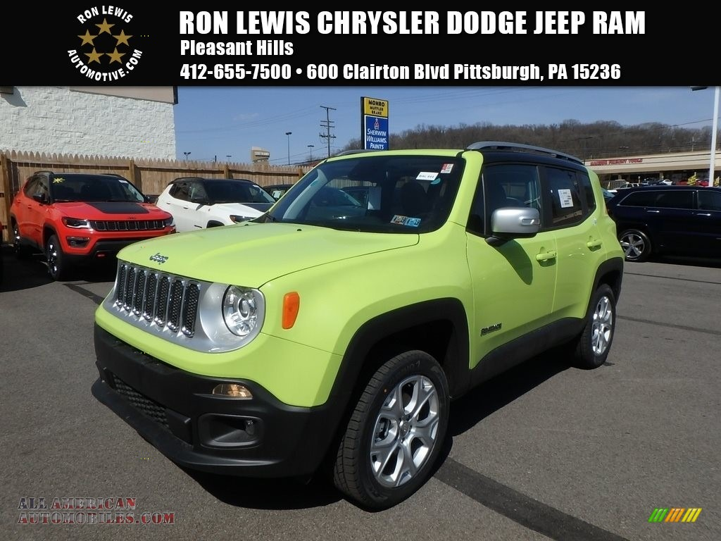 2018 Renegade Limited 4x4 - Hypergreen / Black photo #1