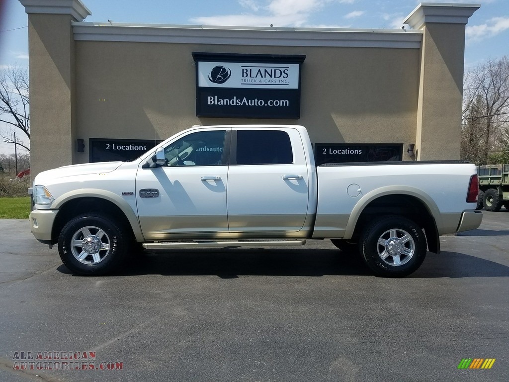 2011 Ram 2500 HD Laramie Crew Cab 4x4 - Bright White / Light Pebble Beige/Bark Brown photo #1