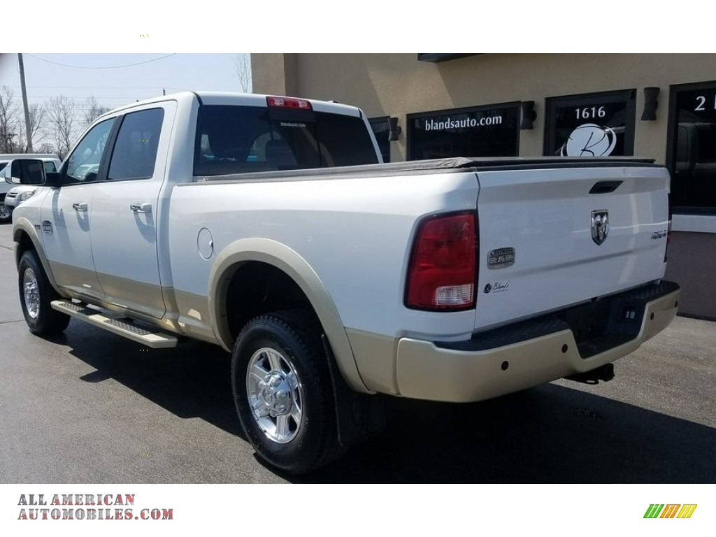 2011 Ram 2500 HD Laramie Crew Cab 4x4 - Bright White / Light Pebble Beige/Bark Brown photo #3