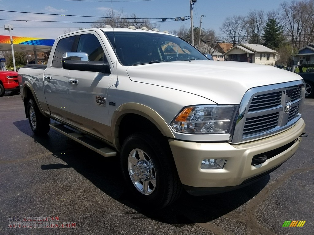 2011 Ram 2500 HD Laramie Crew Cab 4x4 - Bright White / Light Pebble Beige/Bark Brown photo #8