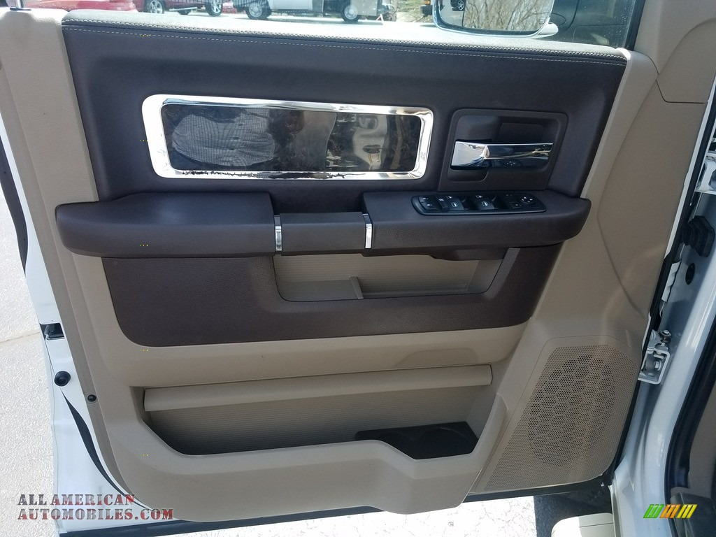 2011 Ram 2500 HD Laramie Crew Cab 4x4 - Bright White / Light Pebble Beige/Bark Brown photo #11