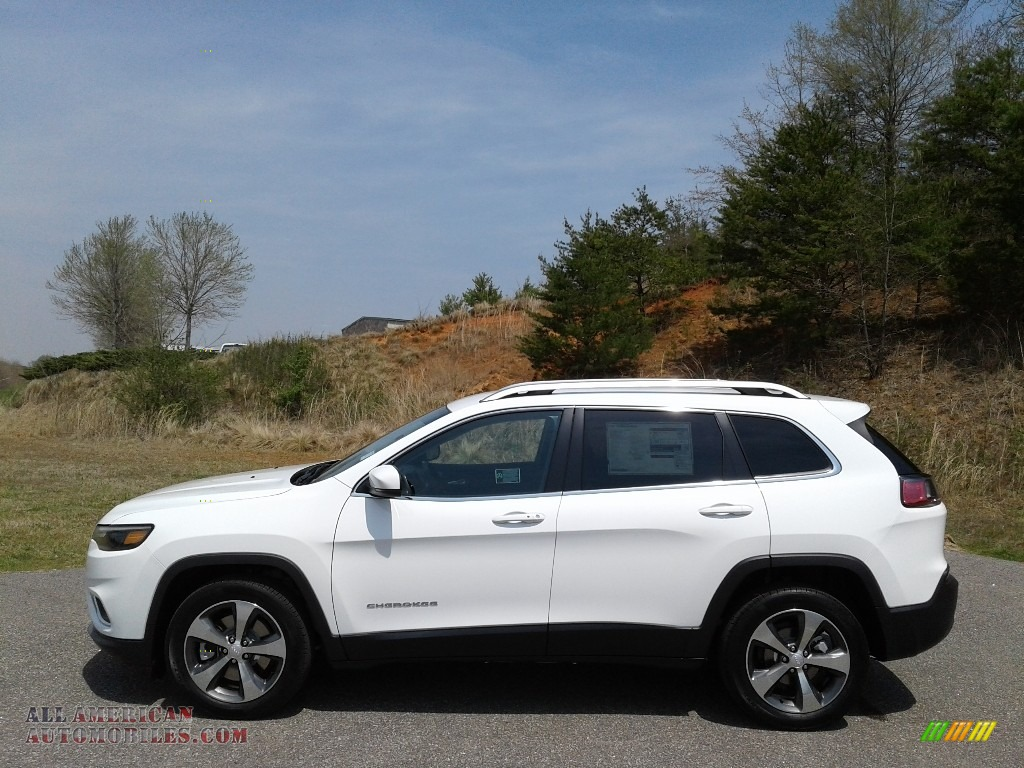 2019 Cherokee Limited - Bright White / Black photo #1