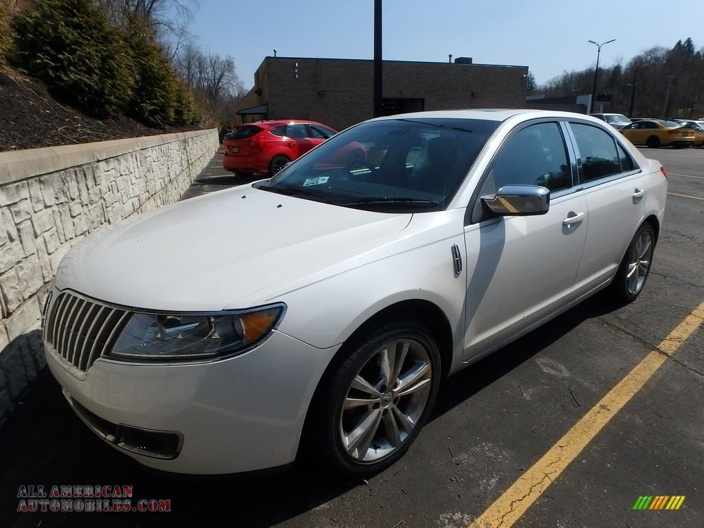 2012 MKZ AWD - White Platinum Metallic Tri-Coat / Dark Charcoal photo #1