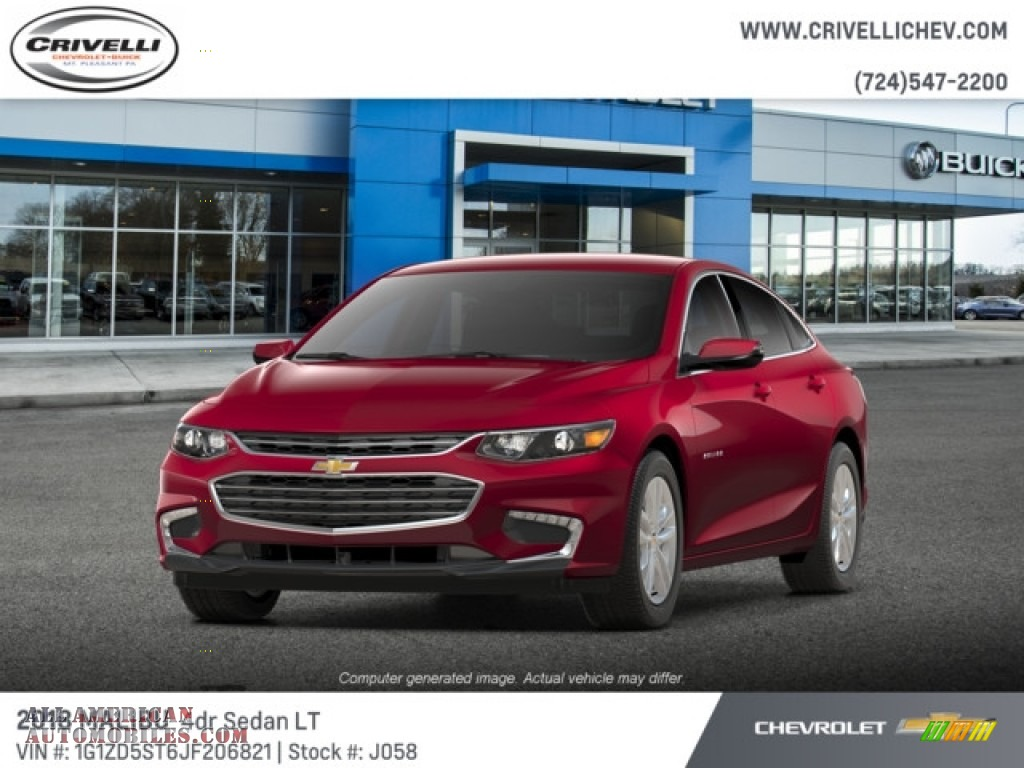 2018 Malibu LT - Cajun Red Tintcoat / Jet Black photo #1
