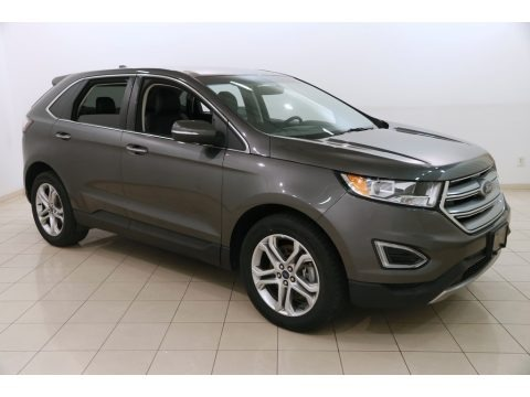 Magnetic Metallic 2017 Ford Edge Titanium AWD