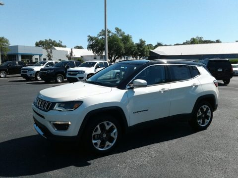 Pearl White Tri–Coat 2018 Jeep Compass Limited