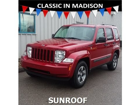 Inferno Red Crystal Pearl 2008 Jeep Liberty Sport 4x4