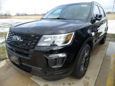 Shadow Black 2018 Ford Explorer Sport 4WD
