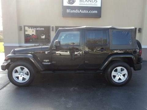 Black 2008 Jeep Wrangler Unlimited Sahara 4x4