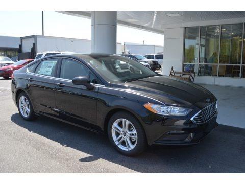 Shadow Black 2018 Ford Fusion SE