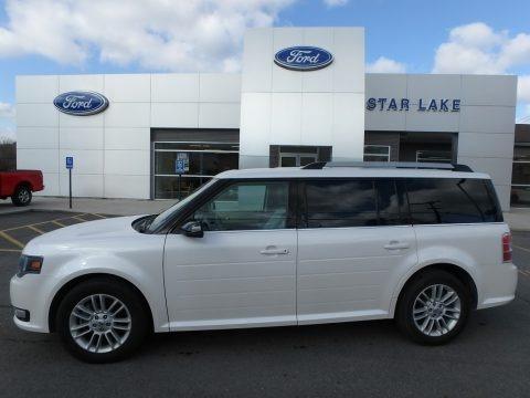 White Platinum 2014 Ford Flex SEL AWD