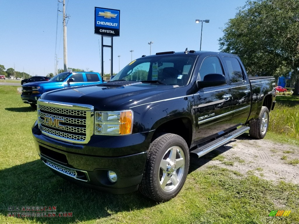 2014 Sierra 2500HD Denali Crew Cab 4x4 - Onyx Black / Ebony photo #1
