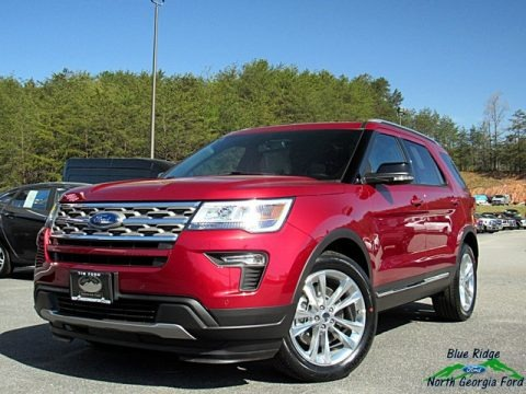 Ruby Red 2018 Ford Explorer XLT